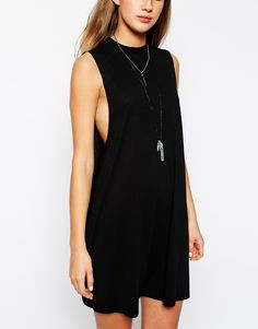 ASOS PETITE T-Shirt Dress with Drop Arm Hole