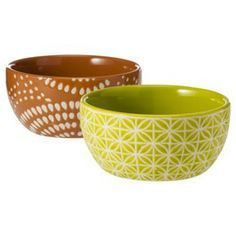 Threshold™ Patterned Ceramic Dip Bowls Set of 2 - Red and Lime