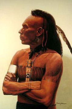 Magua, Huron, painted by David Wright