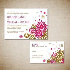 Printable wedding invitation and RSVP card  Chinese by envyanvi, $28.00