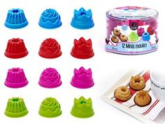 YiGo 12er Mulden Silikon Muffinform Muffin Pink 1pcs