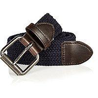 Navy woven belt
