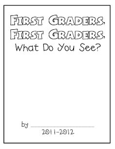 F is for First Grade. First day of school book for the kids to get to know each other!