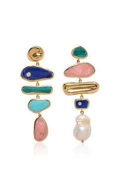 Palma Gold-Plated Earrings by Pamela Love Diy Jewelry, Jewelry Accessories, Jewelry Design, Jewelry Making, Unique Jewelry, Jewellery, Gold Plated Earrings, Stud Earrings, Bijou Box