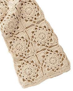 Crochet Diagram, Filet Crochet, Knit Crochet, Crochet Patterns, Crochet Jacket, Crochet Cardigan, Flower Granny Square, Diy Pillows, Chrochet