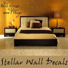The best things in life aren't things Life Inspirational Vinyl Wall Decal Sticker Mural Quotes Words L004ThebestIII