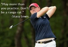 Get out and play. That's the advice of a pro. A little range warm up isn't bad…