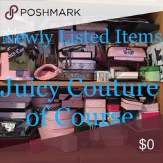 """Juicy Couture Items """"New""""(ly) Listed Newly listed items, hopefully for easier viewing... there MIGHT b a """"lowest"""" sub-category, but i can guarantee, never a """"FREE"""" one (like w/ the rest of my closet) 😘 Juicy Couture Jewelry"""