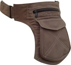 Khaki Cotton Waist Bag / Pouch - I wonder how hard one of these would be to make