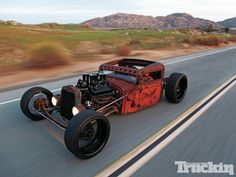 Hot rod Hot rods and Custom cars. Sometimes classic cars but mostly early hotrods and rat rods or custom cars like lowriders. Rat Rod Cars, Hot Rod Trucks, Semi Trucks, Custom Trucks, Custom Cars, Custom Rat Rods, Rat Rod Build, Carros Audi, Roadster