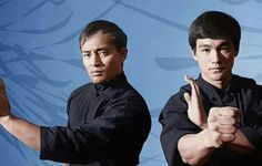 Dan Inosanto and Bruce Lee in Black Belt magazine photo shoot
