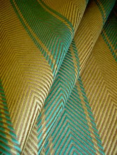 Linen Handwoven Ralph Lauren Carrillo Stripe Color Nettle Heavy Upholstery Fabric RLCOCarilloStripeNettle