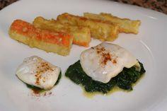 Espinacas con delicias de mar