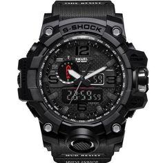 SMAEL Brand Men Sport Watch Dual Display Analog Digital LED Electronic Quartz-Watches Man Waterproof Swimming Wrist Watches Male