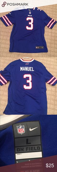 NFL Buffalo Bills Manuel jersey Only worn once to a bills game. In great condition WILLING TO NEGOTIATE! Smoke free home 🚫 fast shipping 📦 NFL Other