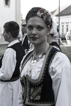 Learning about cultures that have carried the Orthodox Faith for centuries: Serbian Culture Folk Costume, Costumes, Black Magic Woman, Folk Clothing, Serbian, Golden Girls, Historical Costume, Woman Crush, Portrait