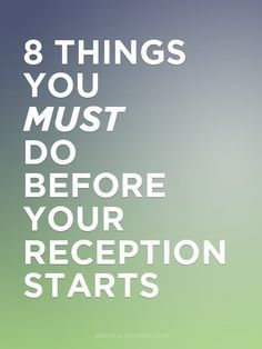 advice for between the ceremony and reception...i love these tips, especially the first one