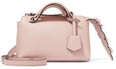 Fendi - By The Way Mini Appliquéd Leather Shoulder Bag - Blush