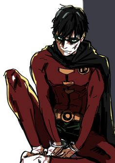 """Jason Todd<< WTF THIS IS TIM!!! <<< No, dumbass it's Jason from the animated movie """"Batman: Under the Red Hood"""" where they changed his costume from the speedos to the modern-ish one Tim had so it wasn't as cheesy"""
