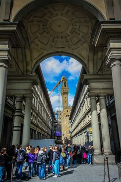 The Uffizi Museum, Florence, Italy *  This was really an amazing museum - even the architecture was worth seeing!
