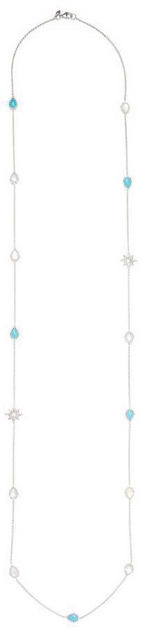 Anzie Women's Aztec Pearl & Gemstones Necklace