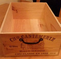 Raw French wine crate & handle wood crate wine by MateriaQuality