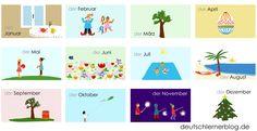 Deutsch lernen A1-A2 mit Videos: die Monate - Blog für alle, die Deutsch lernen