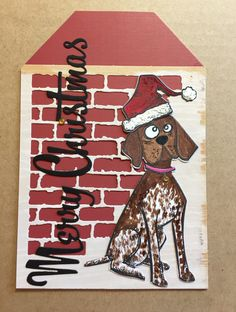 Tim Holtz Crazy Dogs Stamp & Mixed Media #3 - Thinlits Die Set - Merry Christmas Card