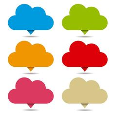 Vector Cloud Pin Mark Icons Vector Collection PNG and Vector Framed Wallpaper, Wallpaper Iphone Cute, Cute Wallpapers, Background Design Vector, Background Banner, Cartoon Clouds, Doodle Frames, Cloud Icon, Powerpoint Design Templates