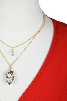 Layered Stone Necklace — The Impeccable Pig Online Boutique