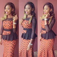 Classic and Beautiful Ankara Styles for Ladies : Skirt and Blouse - DeZango Fashion Zone African American Fashion, Latest African Fashion Dresses, African Print Fashion, Africa Fashion, African Attire, African Wear, African Women, African Dress, Ankara Designs
