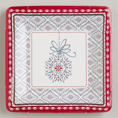 One of my favorite discoveries at WorldMarket.com: Winter Owls Plates, Set of 8