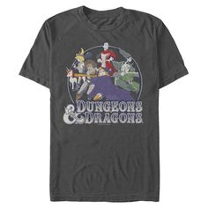 Dungeons and Dragons Animated Series Group Badge T-Shirt | GameStop
