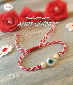 Handmade Jewellery, Handmade Bracelets, Baba Marta, Projects To Try, March, Thoughts, Pearls, Flower, Jewelry