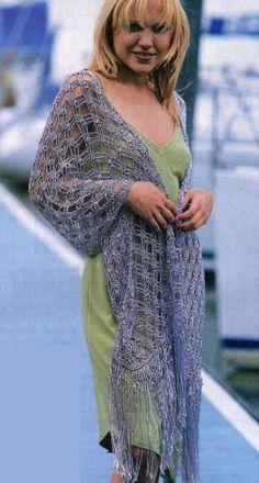 Estola en crochet. Muy bonita puntada. Con esquema.