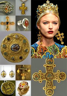 Gorgeous, right? One of my oldest friends, Lisajoy Sachs, has a ring she designed in this group - Byzantine Empire Jewelry Dolce Gabbana Cloisonné Enamel