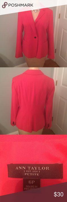 Ann Taylor petite jacket. Beautiful color. Looks great w a skirt, pants even a sleeveless dress. Ann Taylor Jackets & Coats Blazers
