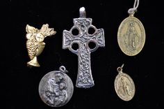 Religious charms cross lot Vintage jewelry by SouthernSisAntiques