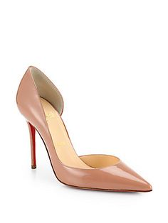 Christian Louboutin Iriza Patent Leather Half d'Orsay Pumps (=)