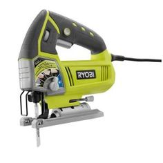 RYOBI Amp Corded Variable Speed Orbital Jig Saw. speed match orbital action indicates the setting for the material being cut. Jig Saw. wood cutting blade, and operator's manual. Circular Saw Reviews, Best Circular Saw, Home Depot, Front Deck, Tennessee, Electric Power Tools, Ryobi Tools, Jig Saw Blades, Vinyl Style
