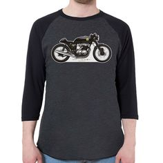 Honda CB750 Cafe Racer (Color) Men's 3/4 Sleeve, Baseball Shirt