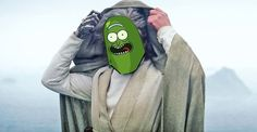 """I turner myself into a pickle Rey, I'm pickle Luuuuke!"" (Burp) Rick and Morty • Star Wars"