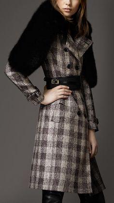 Burberry London Autumn/Winter 2012 Linen Cotton Trench Coat