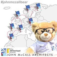 #JohnMcCallBear travels the world raising money for charity - John McCall Architects