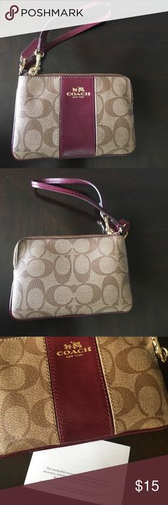 🌹Coach electronic holder purse🌹 Coach Red and Brown Electronic Holder Purse. Coach Bags Wallets