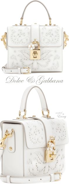 Brilliant Luxury ♦ Dolce & Gabbana Dolce Soft leather shoulder bag https://womenfashionparadise.com/