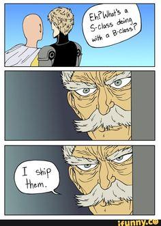 onepunchman, saitama, saigenos, genos This is totally me. Saitama One Punch Man, One Punch Man Anime, One Punch Man Funny, Genos X Saitama, Caped Baldy, Aho Girl, Tsurezure Children, Inu Yasha, Anime One