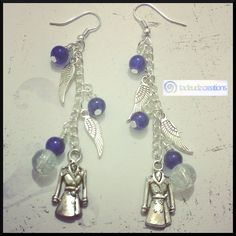 Supernatural Inspired Castiel Trenchcoat Angel Earrings by TadeudzCreations on Etsy