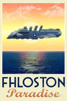 Fhloston Paradise Retro Travel Poster Posters at AllPosters.com