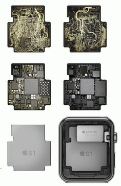 What is inside the Apple Watch's S1 Computer Chip? - Images are from the Apple Watch Video: http://www.apple.com/watch/films/